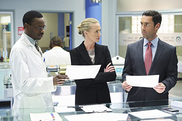 Malcolm Barrett, Jay Harrington, and Jesse Head in Better Off Ted (2009)
