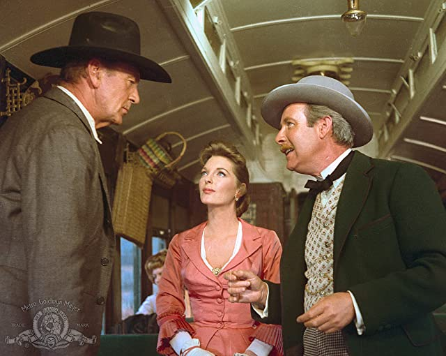 Gary Cooper, Julie London, and Arthur O'Connell in Man of the West (1958)