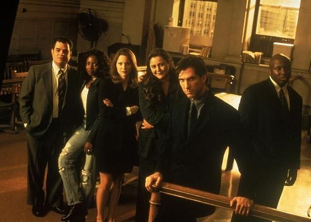 Dylan McDermott, LisaGay Hamilton, Steve Harris, Camryn Manheim, Kelli Williams, and Michael Badalucco in The Practice (1997)