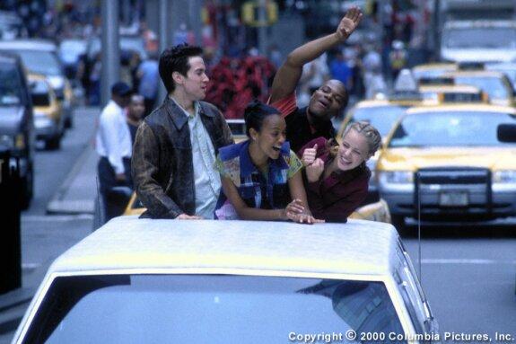 Charlie, Eva, Erik & Jody cut loose in a limo