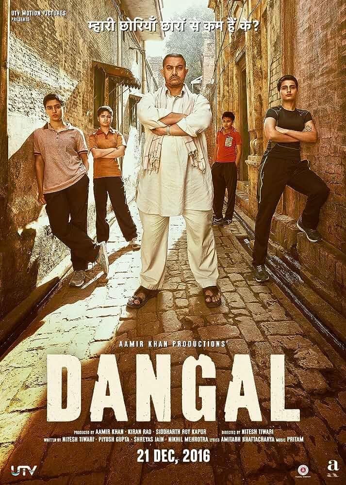 Poster Dangal (2016) Full Hindi HD Movie Download 720p Free