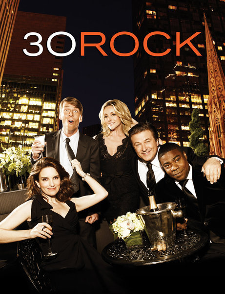 Alec Baldwin, Jane Krakowski, Tina Fey, Tracy Morgan, and Jack McBrayer in 30 Rock (2006)
