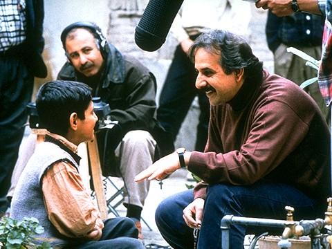 Amir Farrokh Hashemian with director Majid Majidi