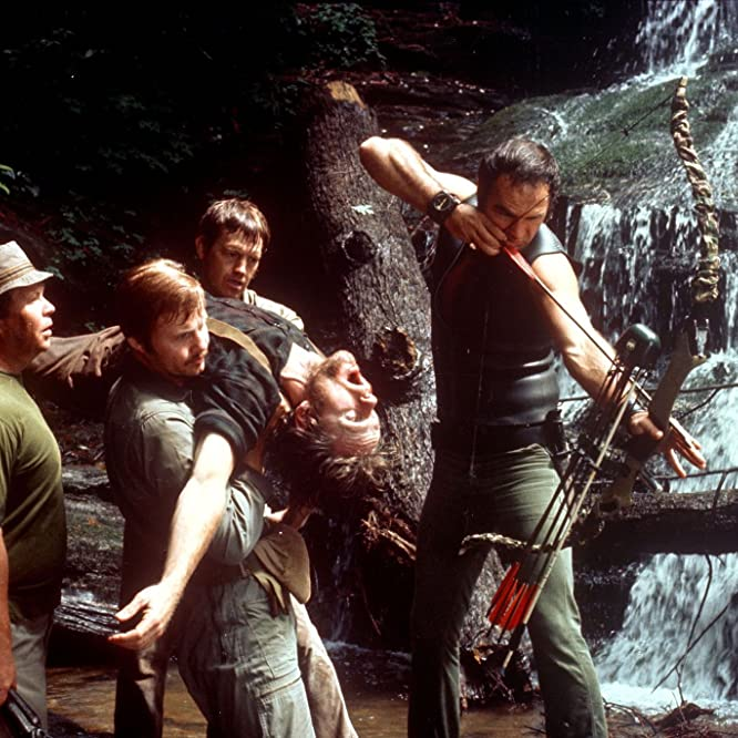 Burt Reynolds, Jon Voight, Ned Beatty, Ronny Cox, and Bill McKinney in Deliverance (1972)