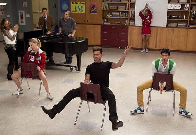 Ricky Martin, Harry Shum Jr., and Heather Morris in Glee (2009)