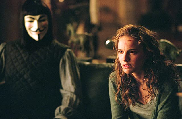 Natalie Portman and Hugo Weaving in V for Vendetta (2005)