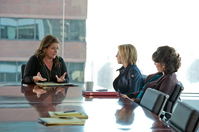 Edie Falco, Eve Best, and Aida Turturro in Nurse Jackie (2009)