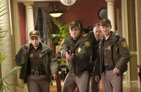 Jennifer Copping, Nathan Fillion, Haig Sutherland, and Don Thompson in Slither (2006)