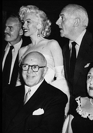 M. Monroe, Darryl Zanuck, Jimmy McHugh, Walter Winchell & Louella Parsons at Ciros Nightclub. 1953