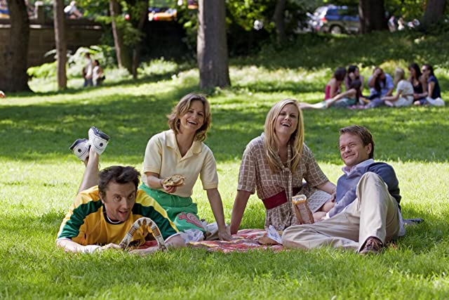 Neil Patrick Harris, Amy Sedaris, Peter Serafinowicz, and Bonnie Somerville in The Best and the Brightest (2010)