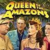 J. Edward Bromberg, John Miljan, Patricia Morison, and Amira Moustafa in Queen of the Amazons (1947)