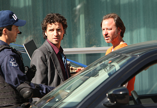 Fisher Stevens and David Krumholtz in Numb3rs (2005)