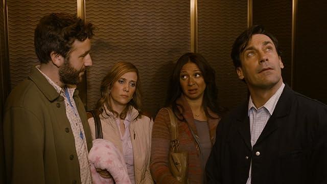 Jon Hamm, Maya Rudolph, Kristen Wiig, and Chris O'Dowd in Friends with Kids (2011)