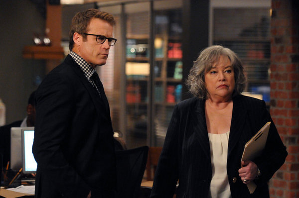 Kathy Bates and Mark Valley in Harry's Law (2011)