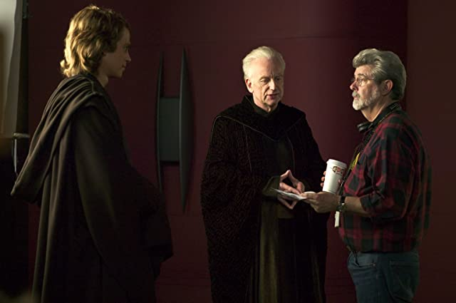 George Lucas, Ian McDiarmid, and Hayden Christensen in Star Wars: Episode III - Revenge of the Sith (2005)
