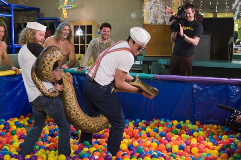Johnny Knoxville, Bam Margera, and Chris Pontius in Jackass Number Two (2006)