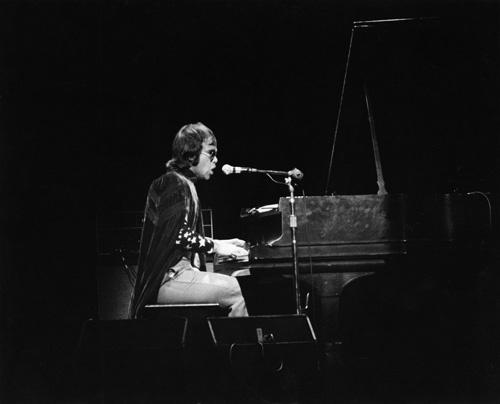 Elton John performing at the Fillmore East in New York City circa 1969