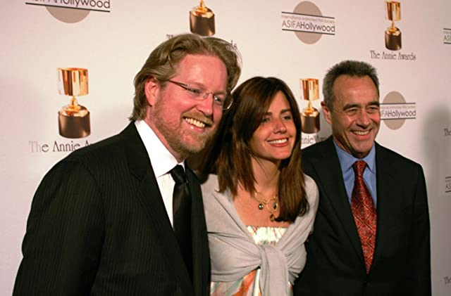 Andrew Stanton, Lindsey Collins, and Jim Morris at WALL·E (2008)