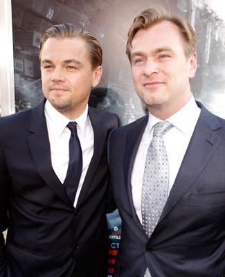Leonardo DiCaprio and Christopher Nolan at Inception (2010)