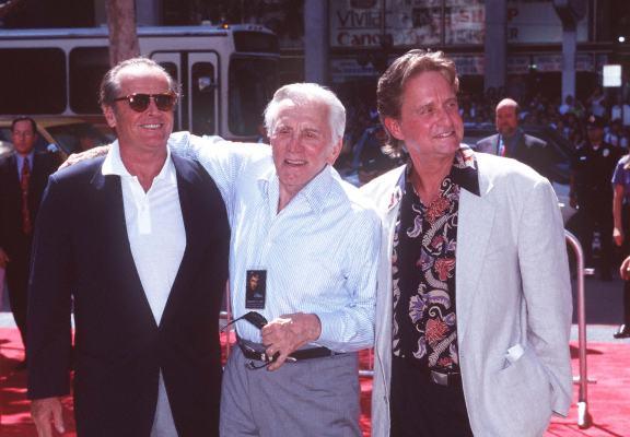 Kirk Douglas, Michael Douglas, and Jack Nicholson
