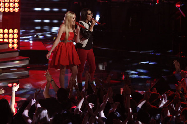 Michelle Chamuel and Danielle Bradbery in The Voice (2011)