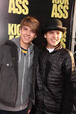 Cole Sprouse and Dylan Sprouse at an event for Kick-Ass (2010)