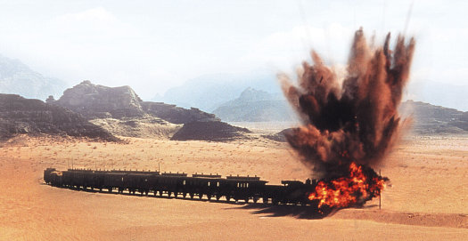 The attack on the train