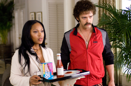 Justin Timberlake and Meagan Good in The Love Guru (2008)