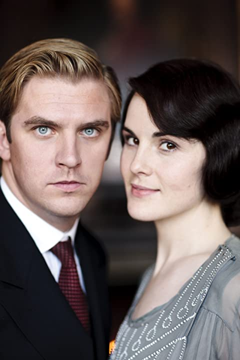 Dan Stevens and Michelle Dockery in Downton Abbey (2010)