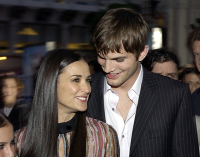 Demi Moore and Ashton Kutcher at Charlie's Angels: Full Throttle (2003)