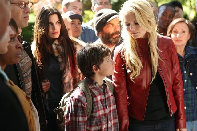Mig Macario, Lee Arenberg, Jennifer Morrison, Meghan Ory, Raphael Sbarge, and Jared Gilmore in Once Upon a Time (2011)