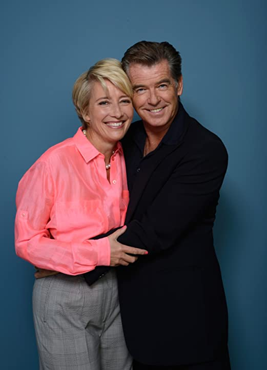 Pierce Brosnan and Emma Thompson at The Love Punch (2013)