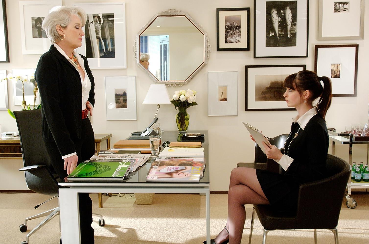 Meryl Streep and Anne Hathaway in Devil Wears Prada