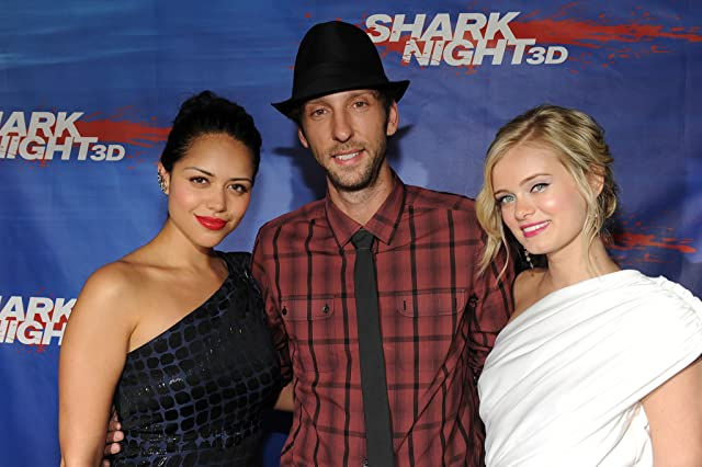 Joel David Moore, Sara Paxton, and Alyssa Diaz at an event for Shark Night 3D (2011)