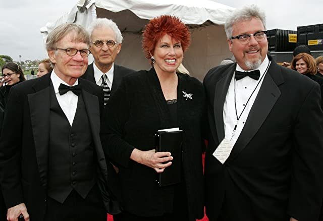 Peter Bonerz, Jack Riley, and Marcia Wallace