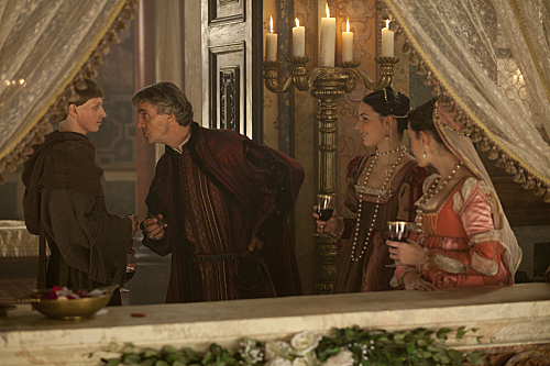 Jeremy Irons and Jesse Bostick in The Borgias (2011)
