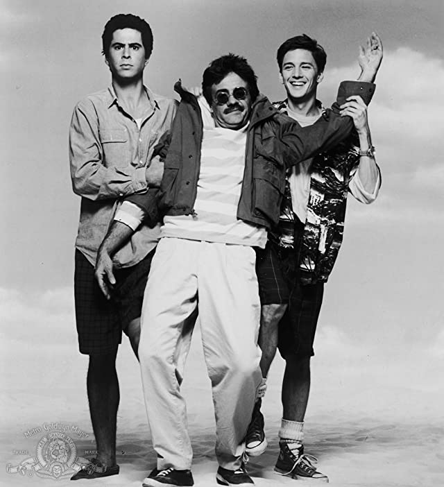 Andrew McCarthy, Jonathan Silverman, and Terry Kiser in Weekend at Bernie's (1989)