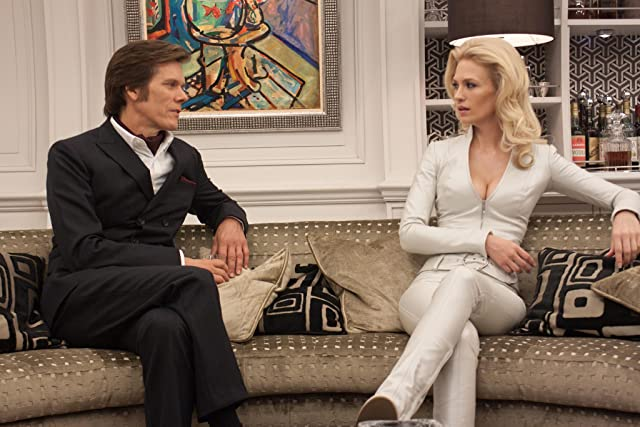 Kevin Bacon and January Jones in X-Men: First Class (2011)