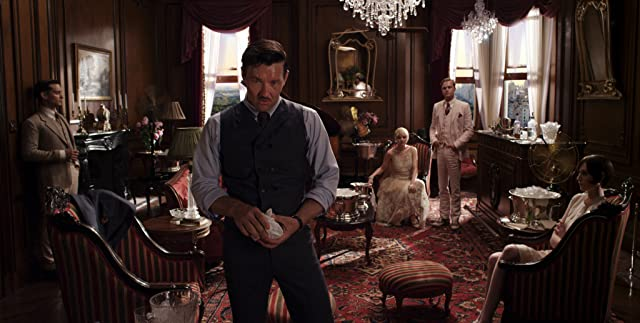 Leonardo DiCaprio, Tobey Maguire, Joel Edgerton, Carey Mulligan, and Elizabeth Debicki in The Great Gatsby (2013)