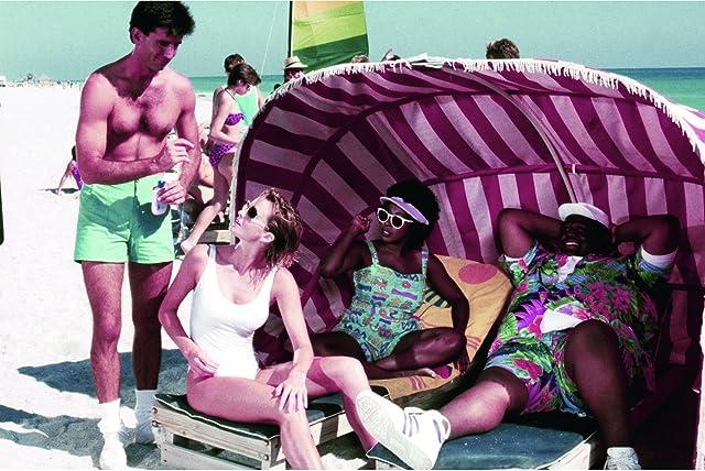 Janet Jones, Matt McCoy, Marion Ramsey, and Tab Thacker in Police Academy 5: Assignment: Miami Beach (1988)