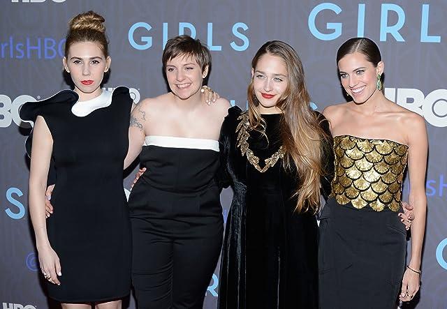 Zosia Mamet, Lena Dunham, Jemima Kirke, and Allison Williams at Girls (2012)