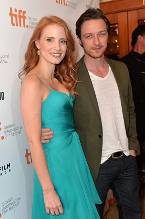 James McAvoy and Jessica Chastain at The Disappearance of Eleanor Rigby: Him (2013)