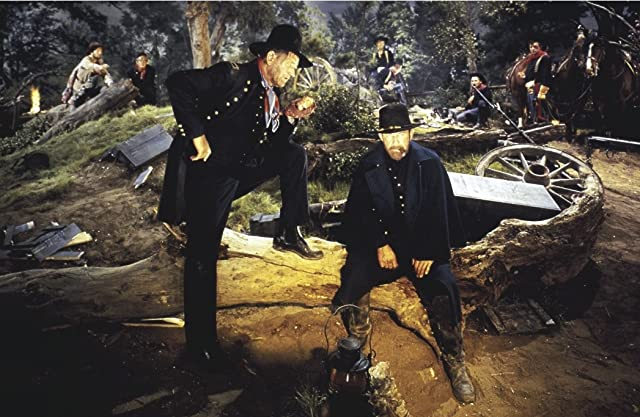 John Wayne and Harry Morgan in How the West Was Won (1962)