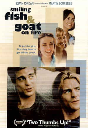 Smiling Fish & Goat on Fire poster