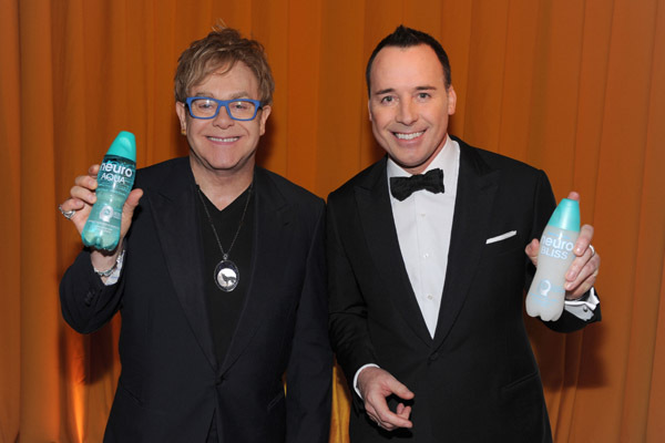 Elton John and David Furnish at The 82nd Annual Academy Awards (2010)