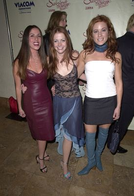 Soleil Moon Frye, Melissa Joan Hart, and Elisa Donovan at Sabrina, the Teenage Witch (1996)