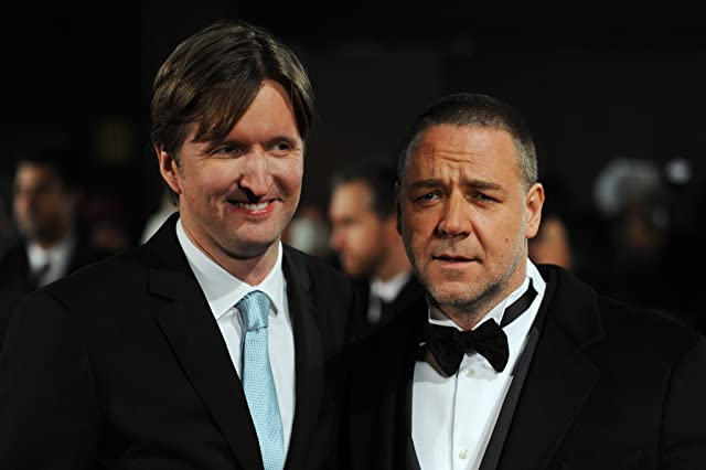 Russell Crowe and Tom Hooper at an event for Les Misérables (2012)
