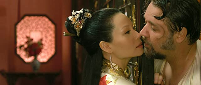 Russell Crowe and Lucy Liu in The Man with the Iron Fists (2012)