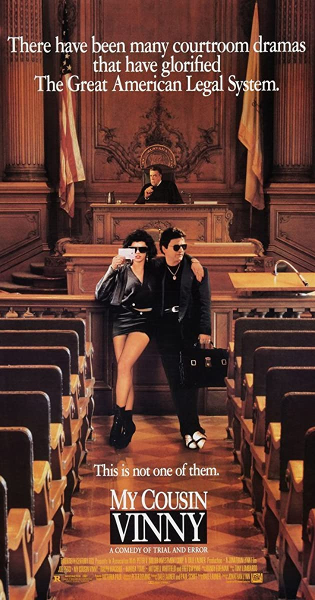 law and the movies my cousin  law 199 – law and the movies final paper- my cousin vinny my cousin vinny is a film about the trial of two young men accused of murder in rural alabama where one of the accused men has his cousin vinny, a new lawyer, try to defend them.