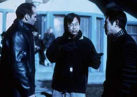 Jet Li, Jason Statham, and James Wong in The One (2001)